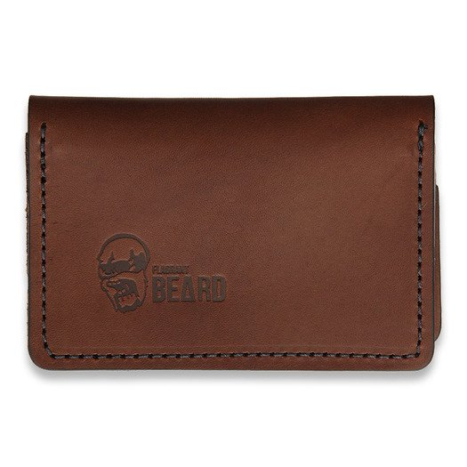 Flagrant Beard Wallet, brown black stitched