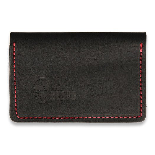 Flagrant Beard Wallet, black red stitched