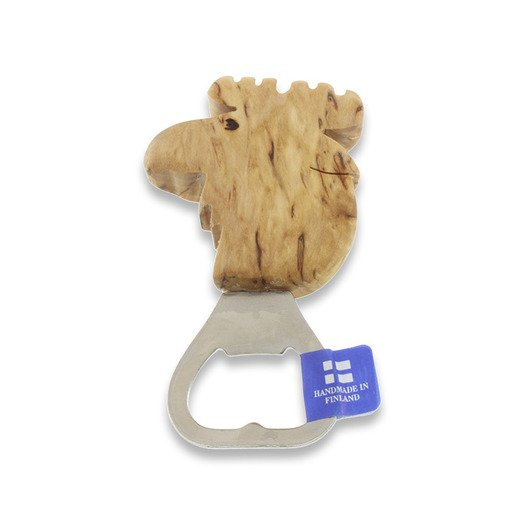 Wood Jewel Moose bottle opener
