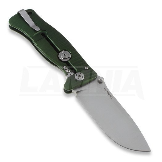 Lionsteel SR1 folding knife, green