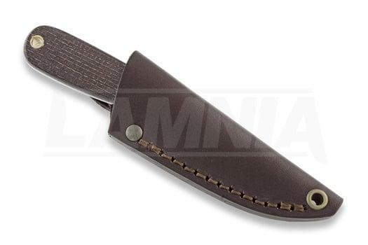 Brisa Necker 70 Scandi סכין צוואר, bison micarta