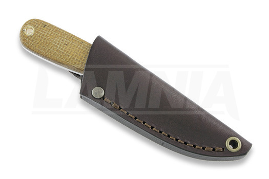 Brisa Necker 70 Scandi סכין צוואר, mustard micarta