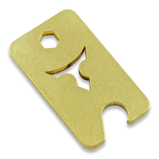 Audacious Concept Dog Tag Opener, Brass