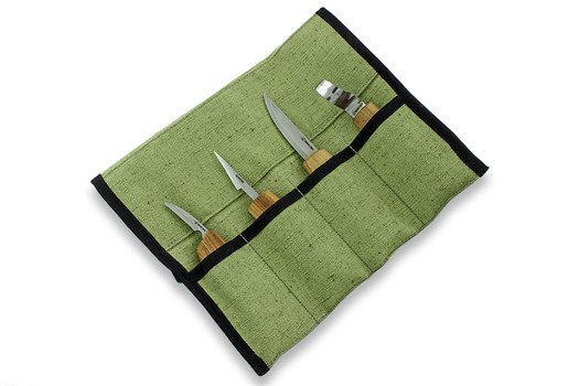 BeaverCraft Set of 4 Knives in Tool Roll S09