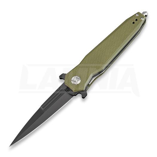 Saliekams nazis Artisan Cutlery Hornet Linerlock D2 Green