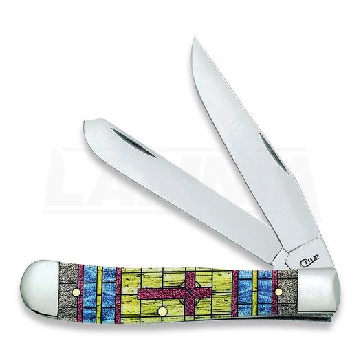 Case Cutlery Trapper Stained Glass Cross foldekniv 38713