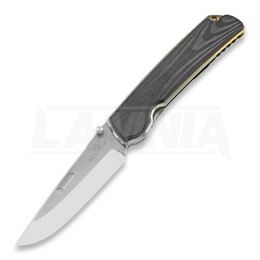 Rockstead Higo II X-CF-ZDP (SG) folding knife, silver gold