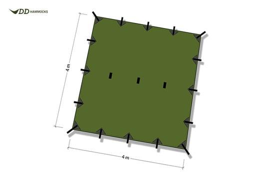 DD Hammocks Tarp 4x4, 茶色