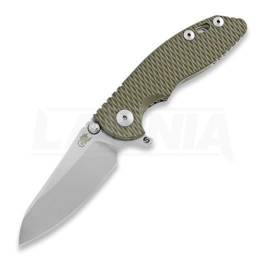 Hinderer XM-18 3.0 Skinny Sheepfoot סכין מתקפלת, stonewash, ירוק