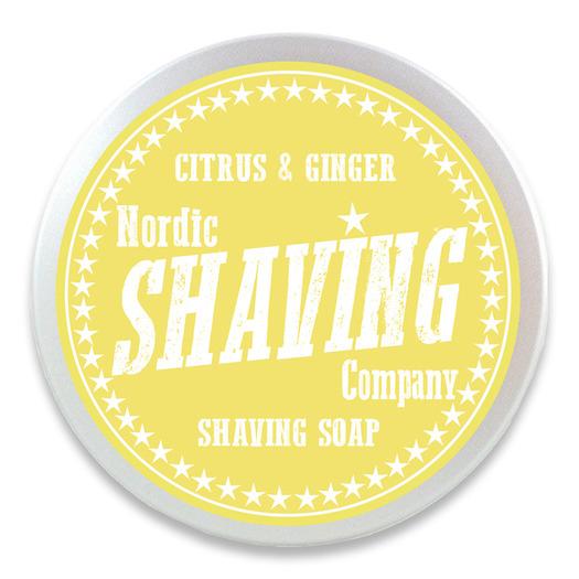Nordic Shaving Company Shaving Soap Citrus&Ginger 80g