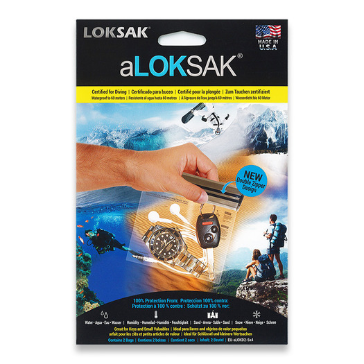 "Loksak Double Zipper Bags, Set of Two 5"" x 4"""