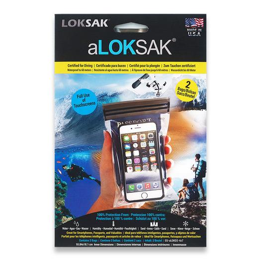 "Loksak Double Zipper Bags, Set of Two 4"" x 7"""