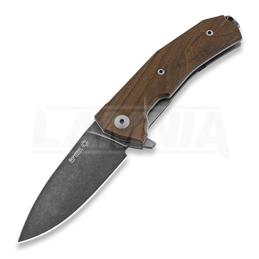 Lionsteel Kur folding knife, santos, black KURBST