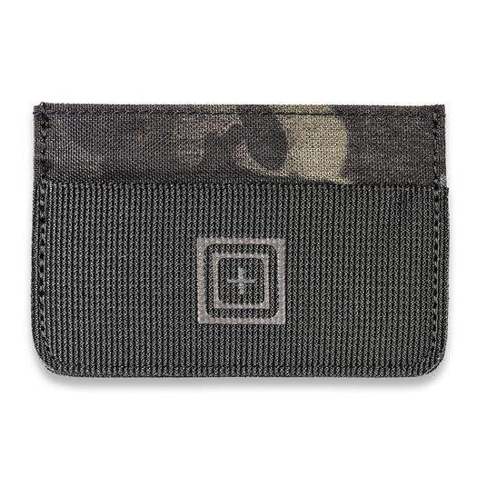 5.11 Tactical Camo Card Wallet, multicam black