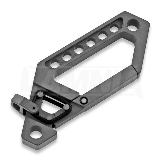 Titaner Advanced Keychain Carabiner, DLC, melns