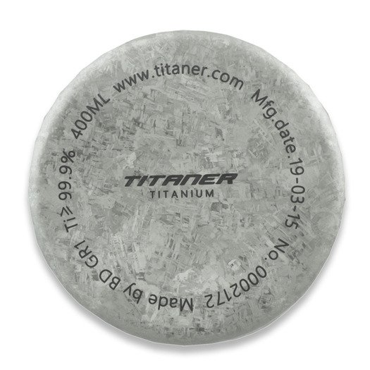 Titaner Titanium Double Wall Cup, Crystal Finish, Silver