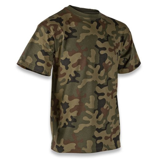 Тениска Helikon-Tex Basic Cotton, pl woodland TS-TSH-CO-04