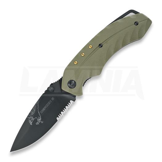 Defcon 5 Foxtrot sulankstomas peilis, žalia