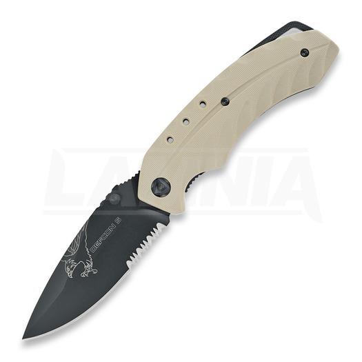 Defcon 5 Foxtrot sulankstomas peilis, tan