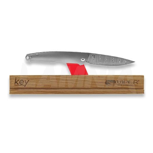 Viper Key Damascus סכין מתקפלת, titanium VA5976D3TI