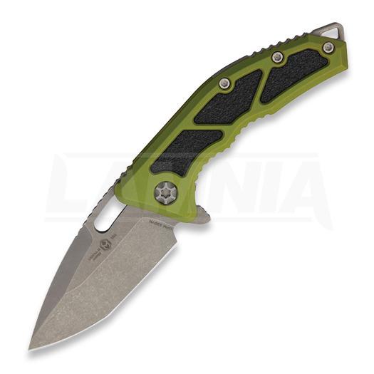 Saliekams nazis Heretic Knives Medusa Tanto, green/battleworn