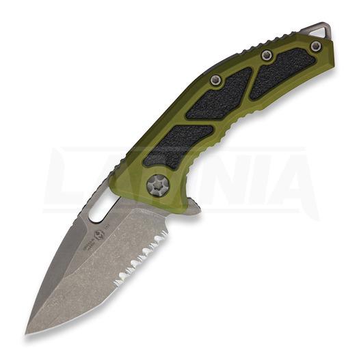 Saliekams nazis Heretic Knives Medusa Tanto, battleworn/green