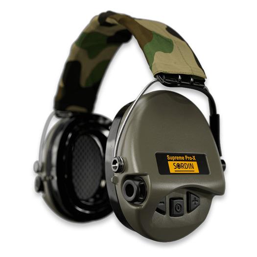Sordin Supreme Pro X Led מחממי אוזניים, green/camo 75302-X-07-S