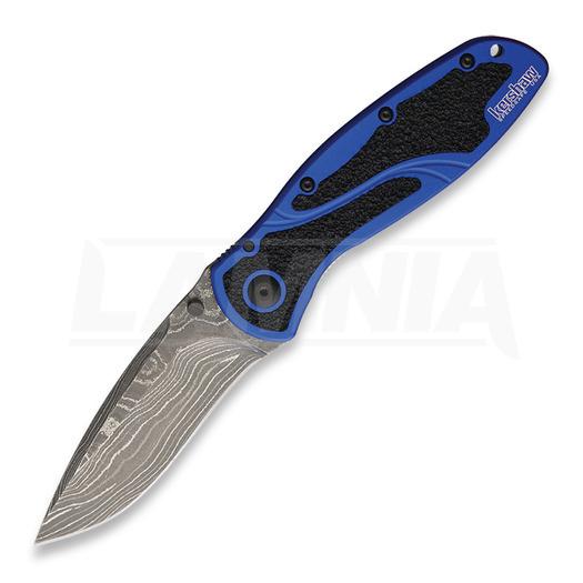 Kershaw Blur A/O Damascus סכין מתקפלת, כחול 1670NBDAM