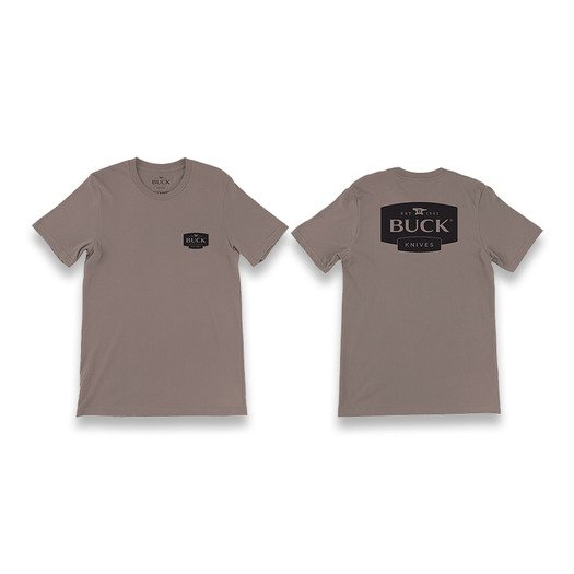 Camiseta Buck Buck logo, marrón