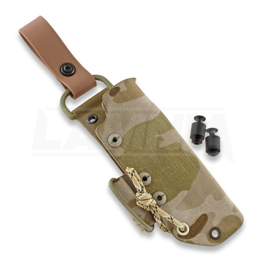 Нож J-P Peltonen Sissipuukko M07, desert camo kydex sheath