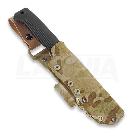 J-P Peltonen Sissipuukko M95 knife, desert camo kydex sheath