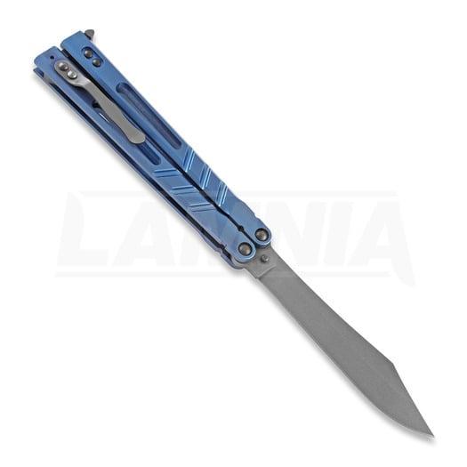 BRS Alpha Beast Premium butterfly knife, blue