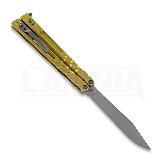 BRS Alpha Beast Premium ALT butterfly knife, gold