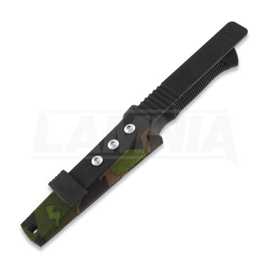 Rokka Korpisoturi knife, M05 camo sheath with Ulticlip