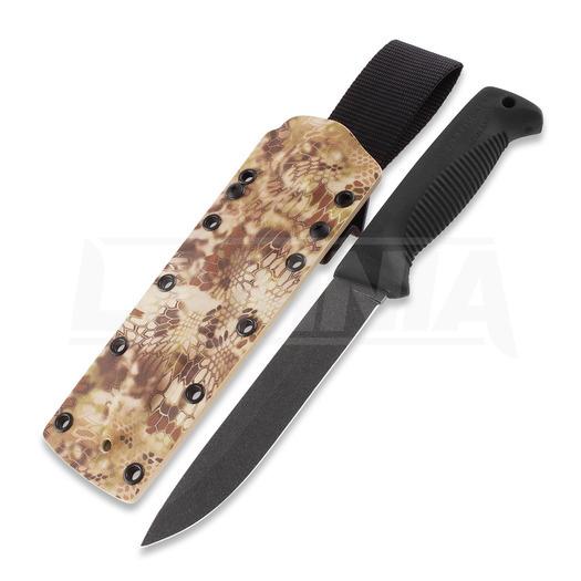 J-P Peltonen Sissipuukko M95 knife, kryptek highlander camo kydex sheath