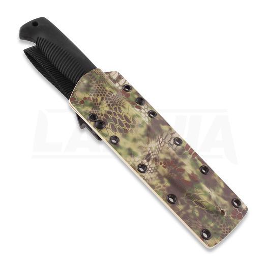 J-P Peltonen Sissipuukko M95 knife, kryptek mandrake camo kydex sheath