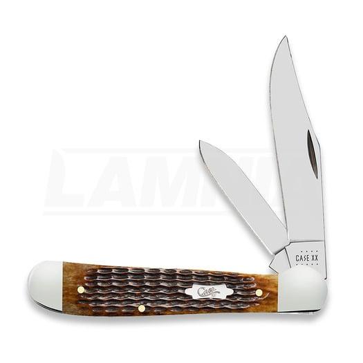 Pocket knife Case Cutlery Antique Bone Rogers Corn Cob Jig Copperhead 52833