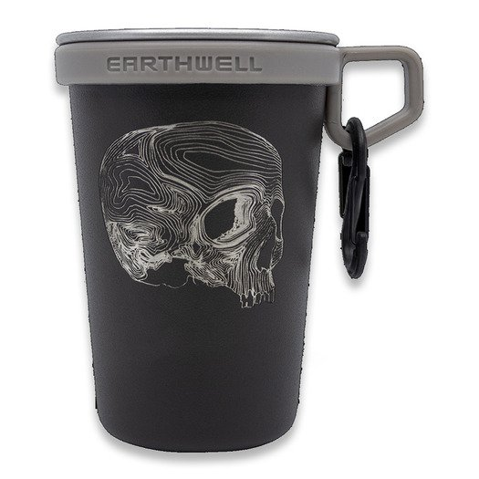 Triple Aught Design Earthwell Pint Cup Black Topo Skull