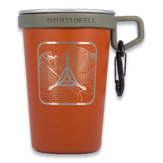 Triple Aught Design Earthwell Pint Cup Sierra Red Topo Logo