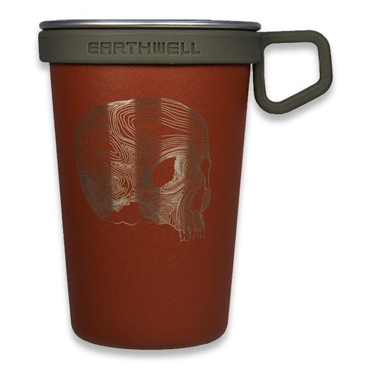 Triple Aught Design Earthwell Pint Cup Sierra Red Topo Skull
