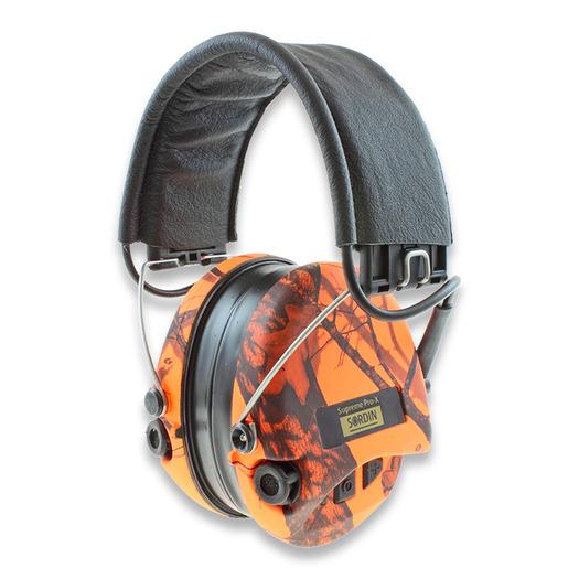 Sordin Supreme Pro X Led מחממי אוזניים, orange camo 75302-X-09
