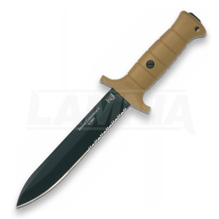 Original Eickhorn-Solingen Desert Command II tactical knife, combo edge