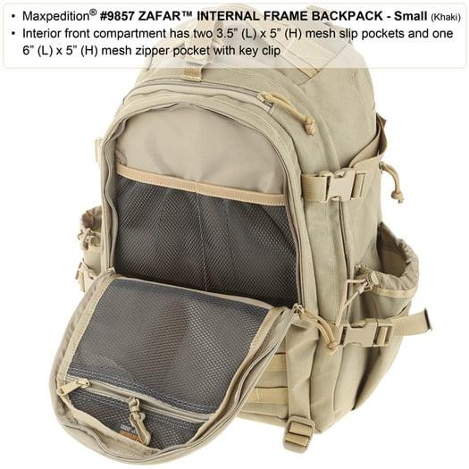 Maxpedition Zafar Internal Frame Backpack תרמיל גב, חום 9857K
