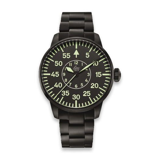Laco Visby 36mm pilot watch, juoda