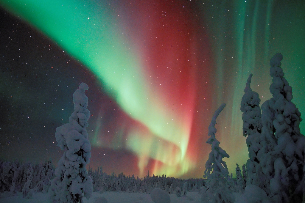 Northern-Lights-in-Finland-Finnish Winter-Aurora-Borealis-Visit-Finland